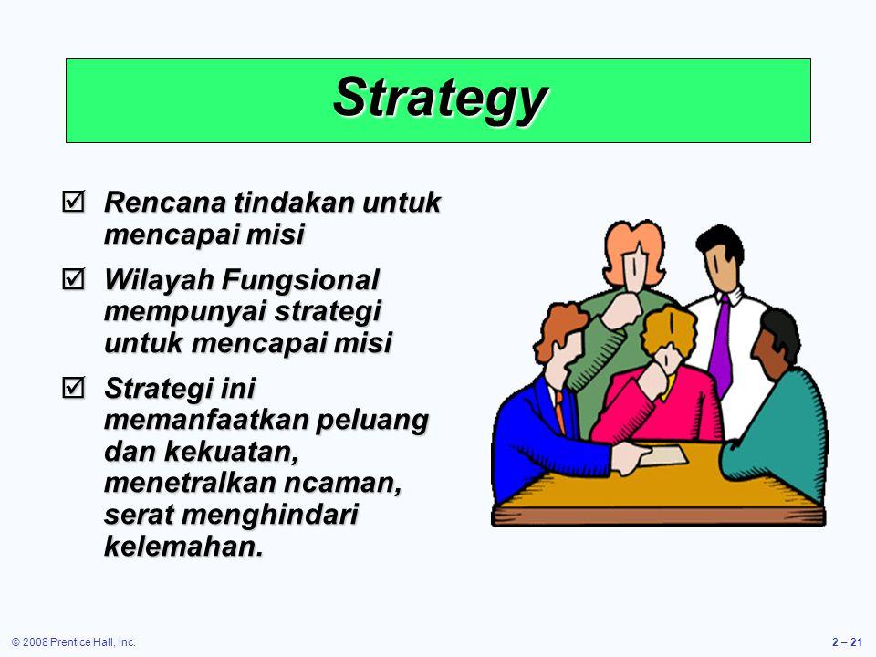 Strategy Rencana tindakan untuk mencapai misi