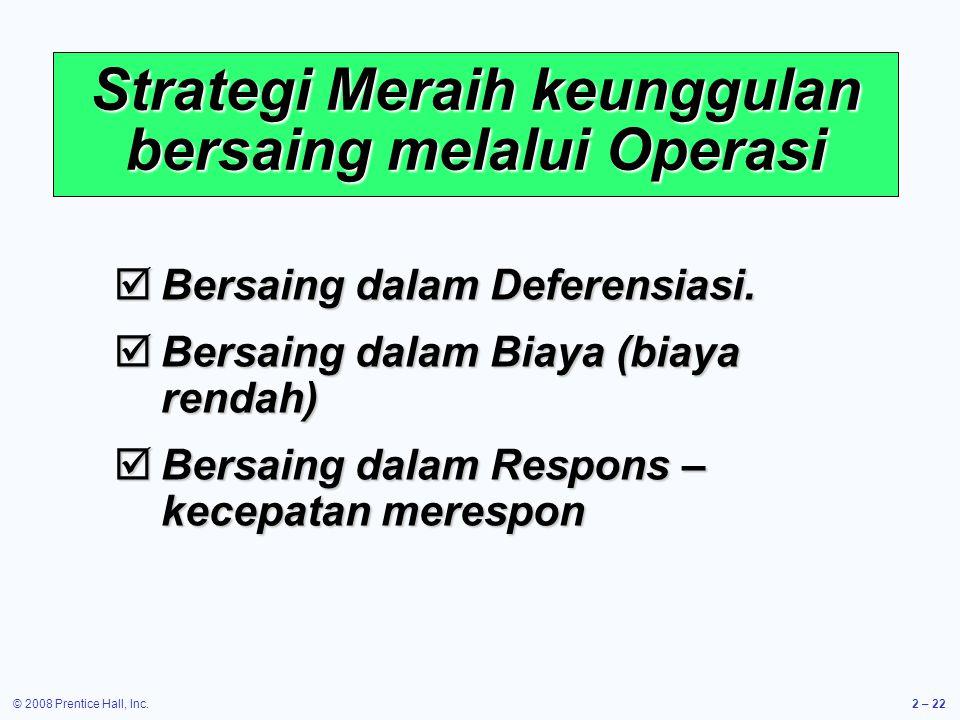Strategi Meraih keunggulan bersaing melalui Operasi