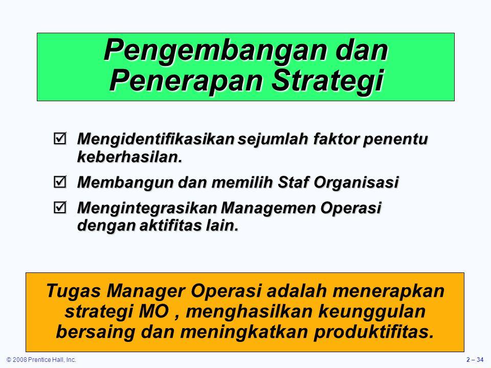Pengembangan dan Penerapan Strategi