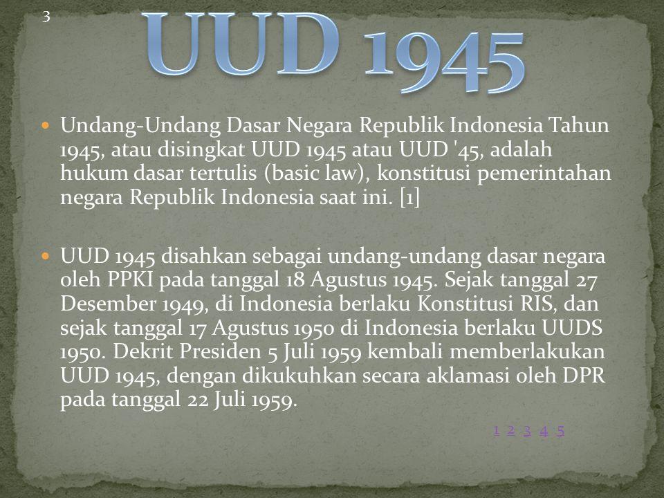 3 UUD 1945.