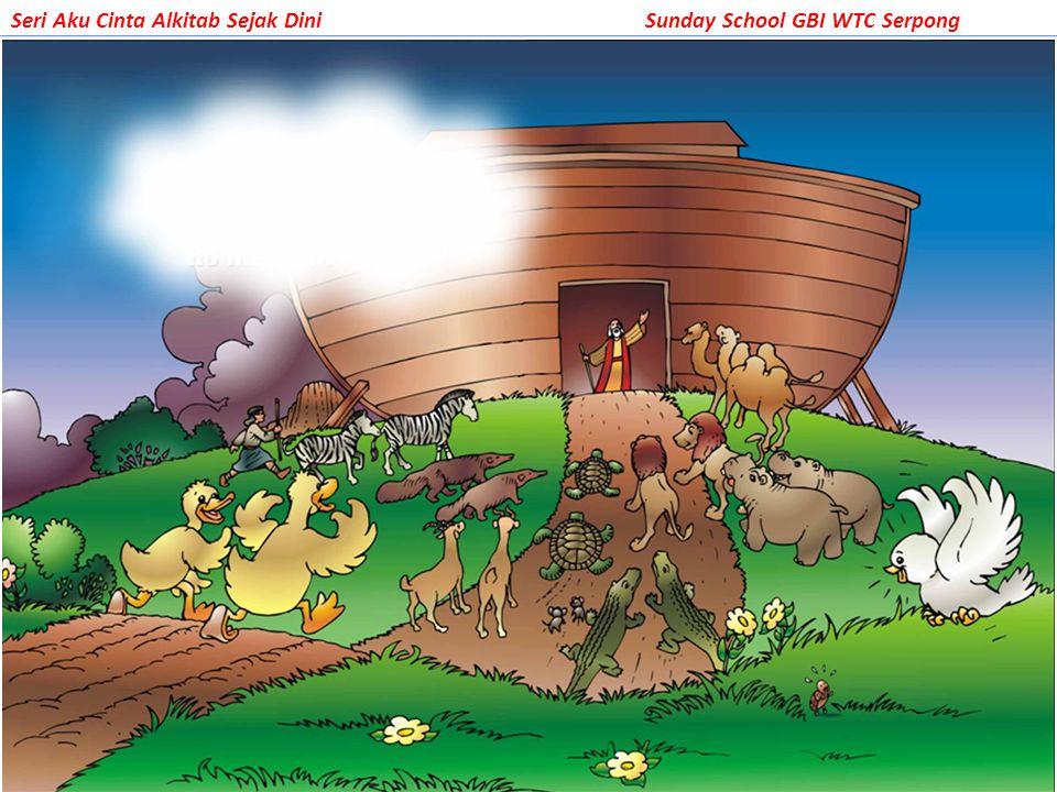 Suatu hari semua binatang berkumpul dan menuju ke dalam sebuah perahu besar.