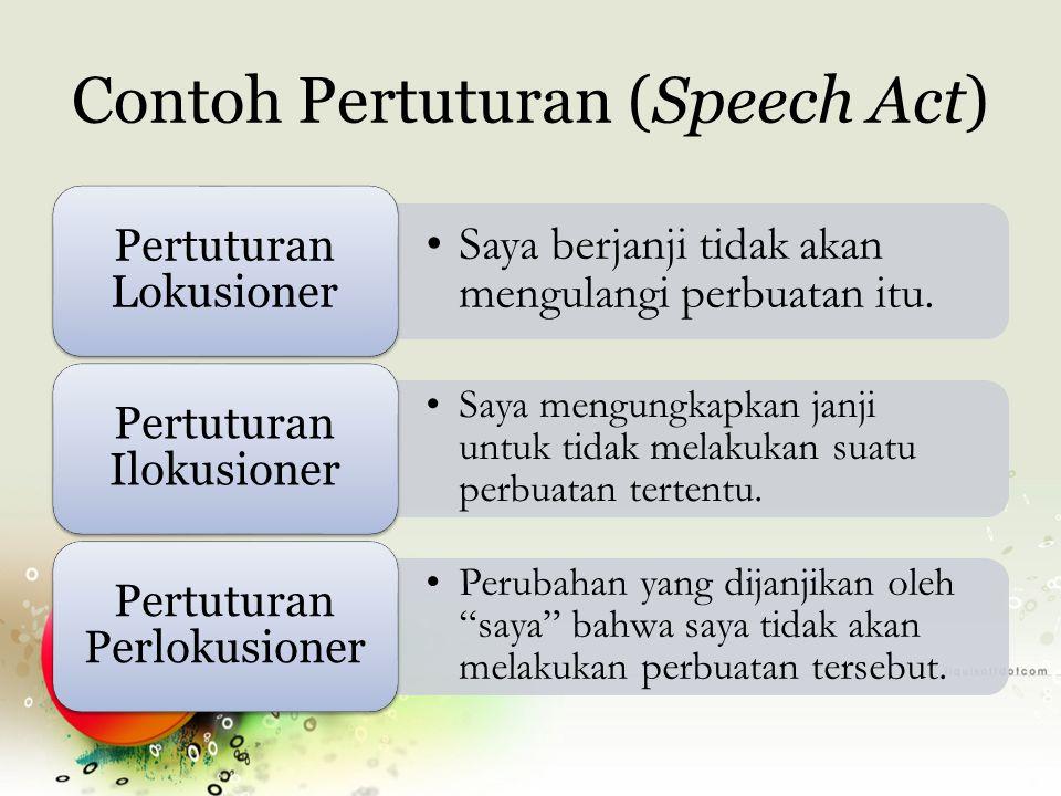 Contoh Pertuturan (Speech Act)