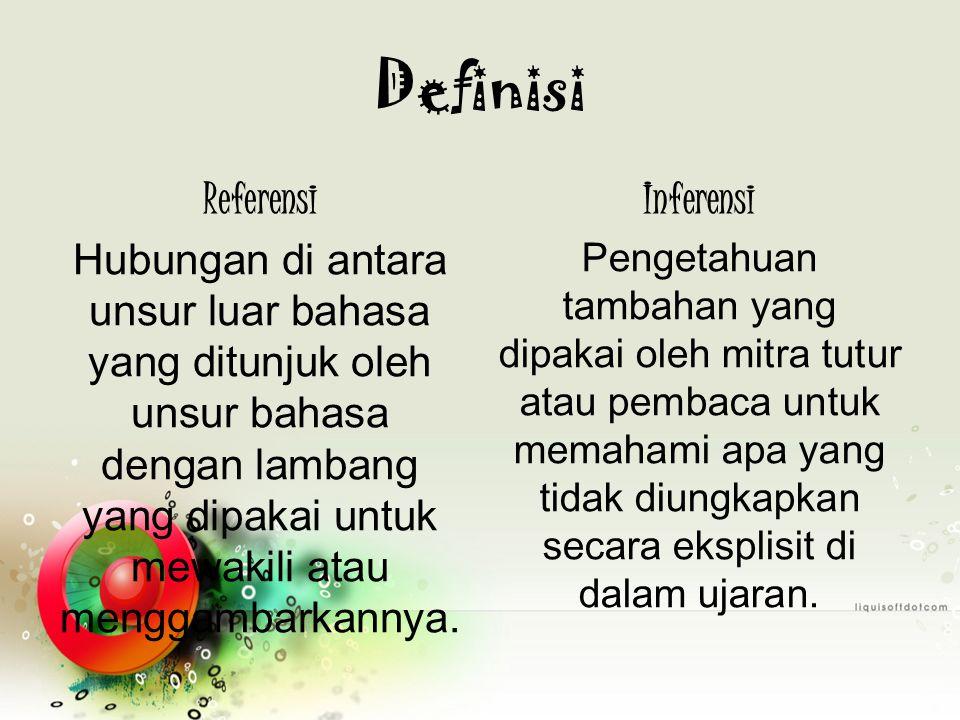 Definisi Referensi Inferensi