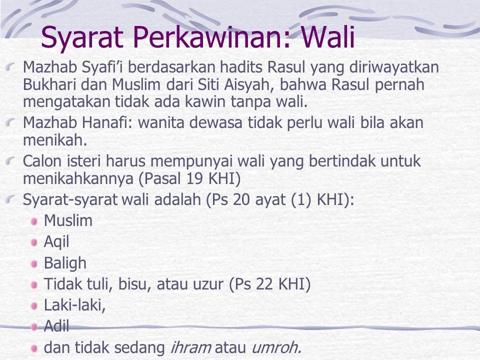 Syarat Perkawinan: Wali