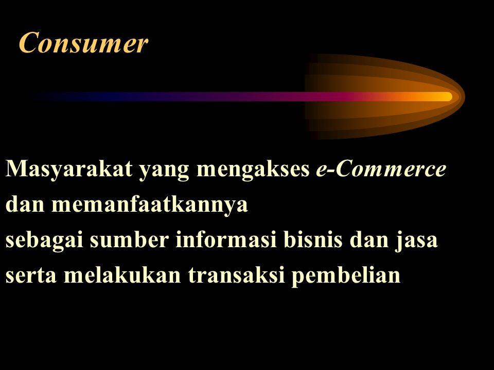 Consumer Masyarakat yang mengakses e-Commerce dan memanfaatkannya