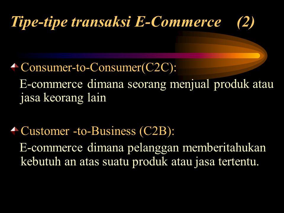 Tipe-tipe transaksi E-Commerce (2)