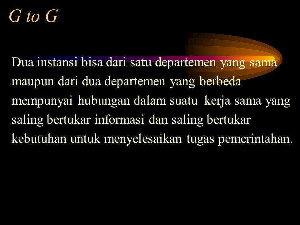 G to G Dua instansi bisa dari satu departemen yang sama