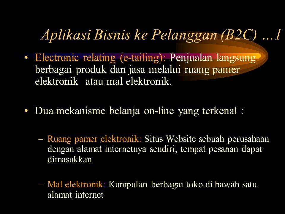 Aplikasi Bisnis ke Pelanggan (B2C) …1