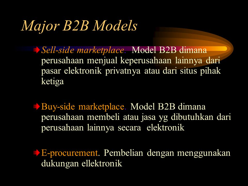 Major B2B Models