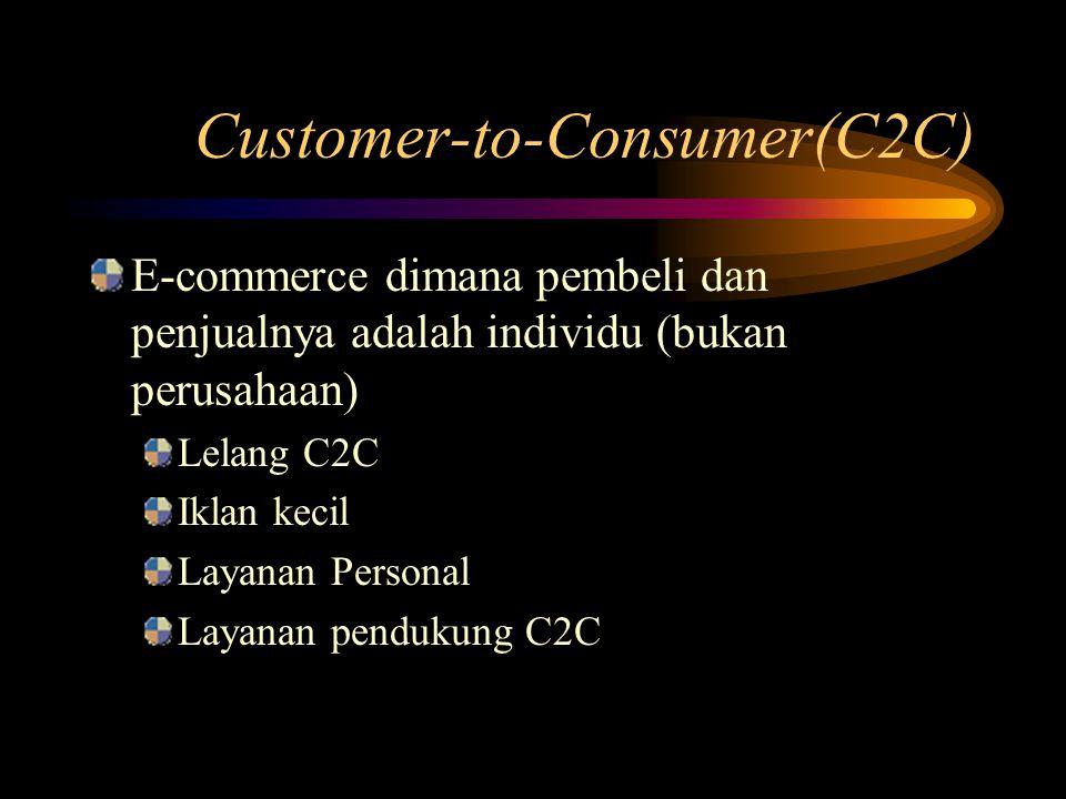 Customer-to-Consumer(C2C)