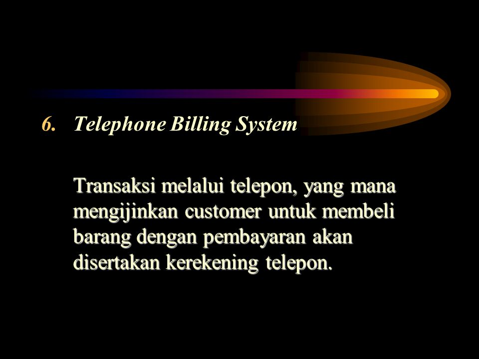 Telephone Billing System