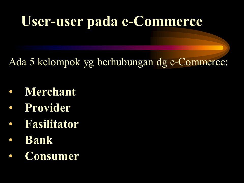 User-user pada e-Commerce