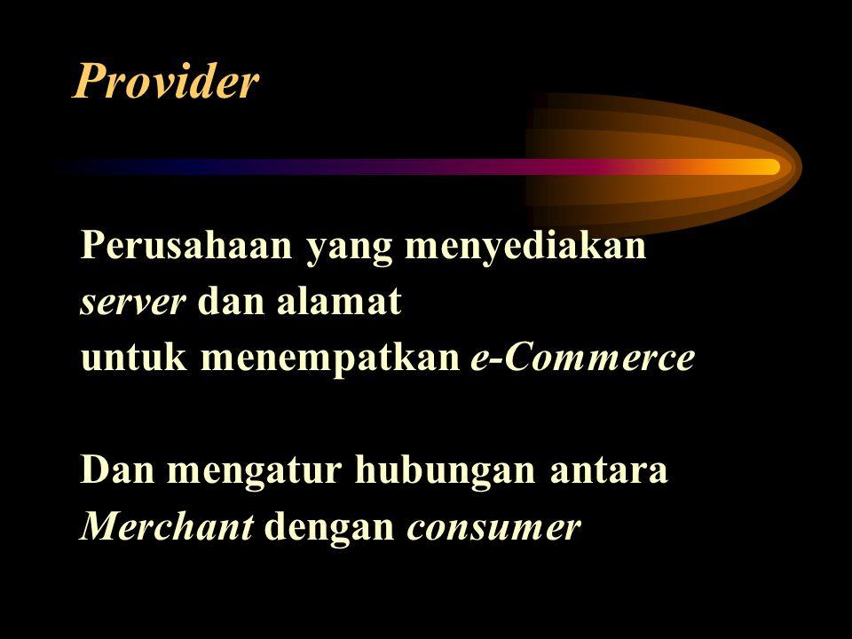 Provider Perusahaan yang menyediakan server dan alamat