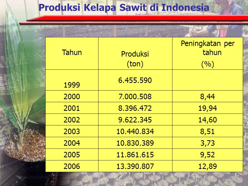 Produksi Kelapa Sawit di Indonesia