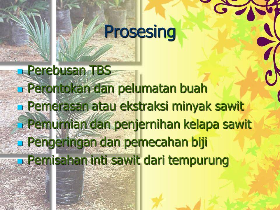 Prosesing Perebusan TBS Perontokan dan pelumatan buah