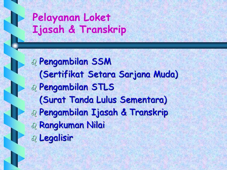 Pelayanan Loket Ijasah & Transkrip Pengambilan SSM