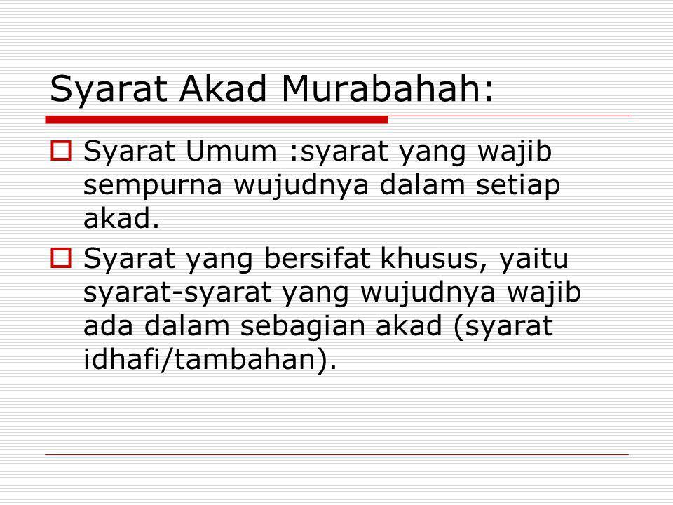 Syarat Akad Murabahah: