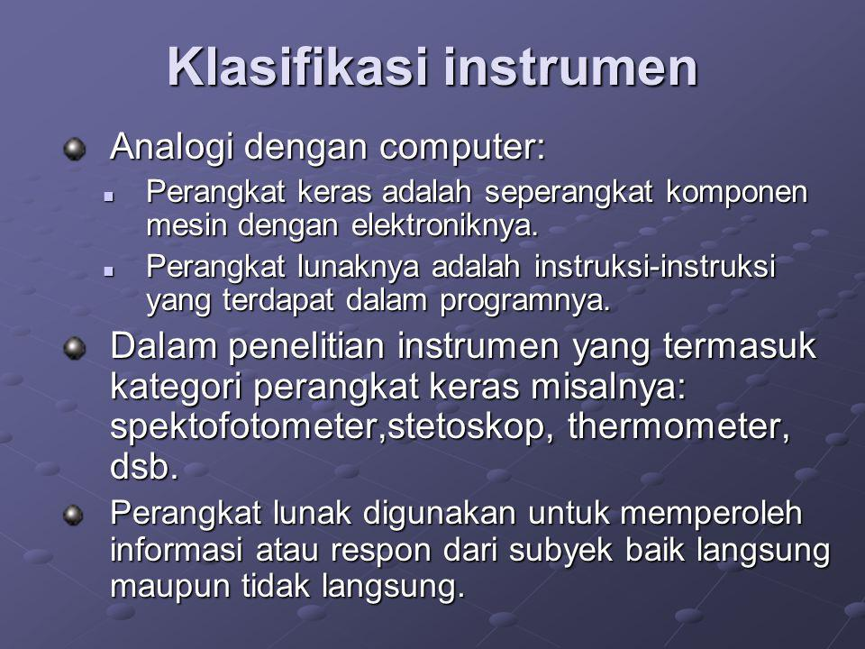 Klasifikasi instrumen