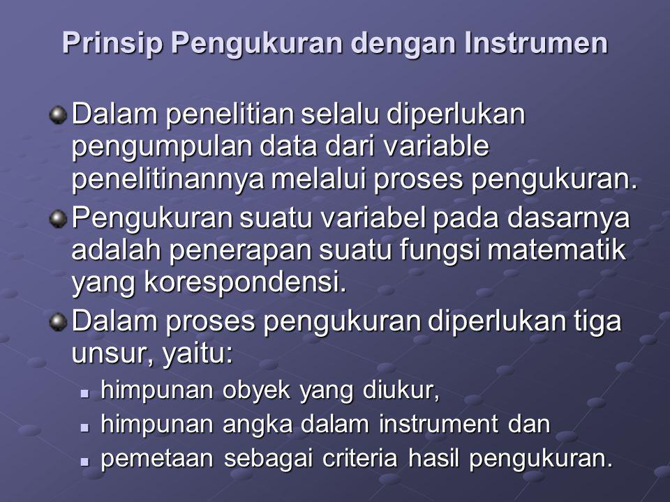 Prinsip Pengukuran dengan Instrumen