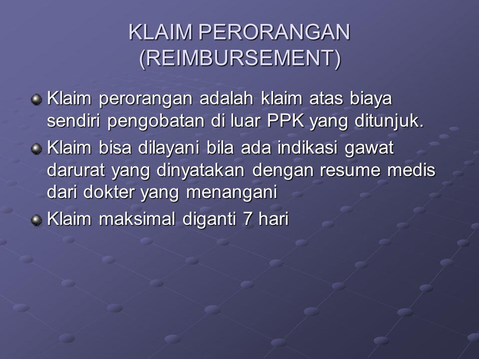 KLAIM PERORANGAN (REIMBURSEMENT)