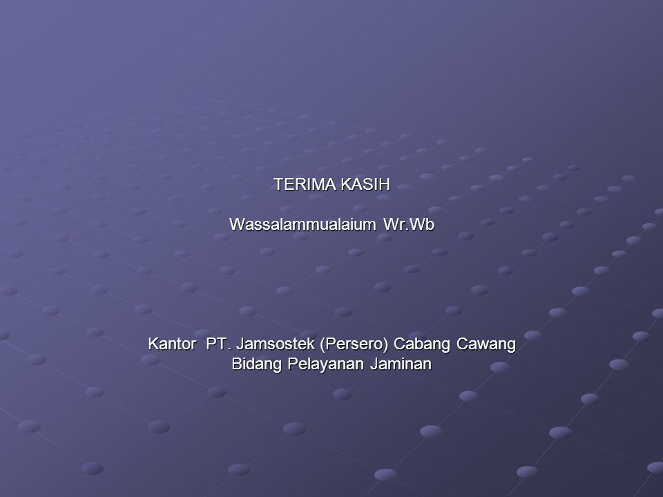 Wassalammualaium Wr.Wb