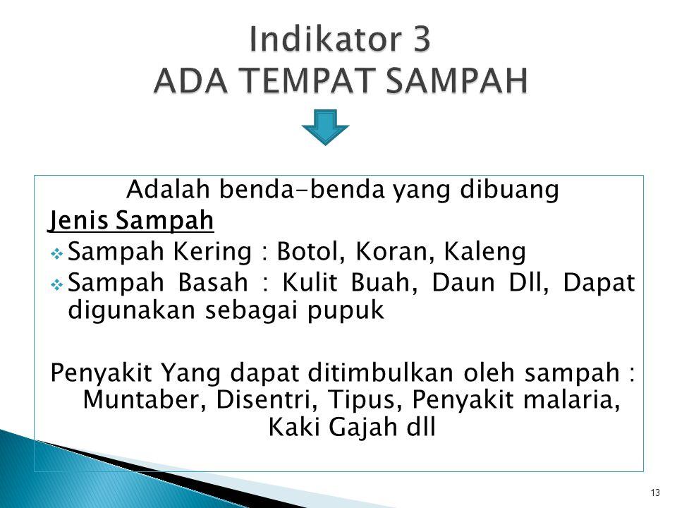 Indikator 3 ADA TEMPAT SAMPAH