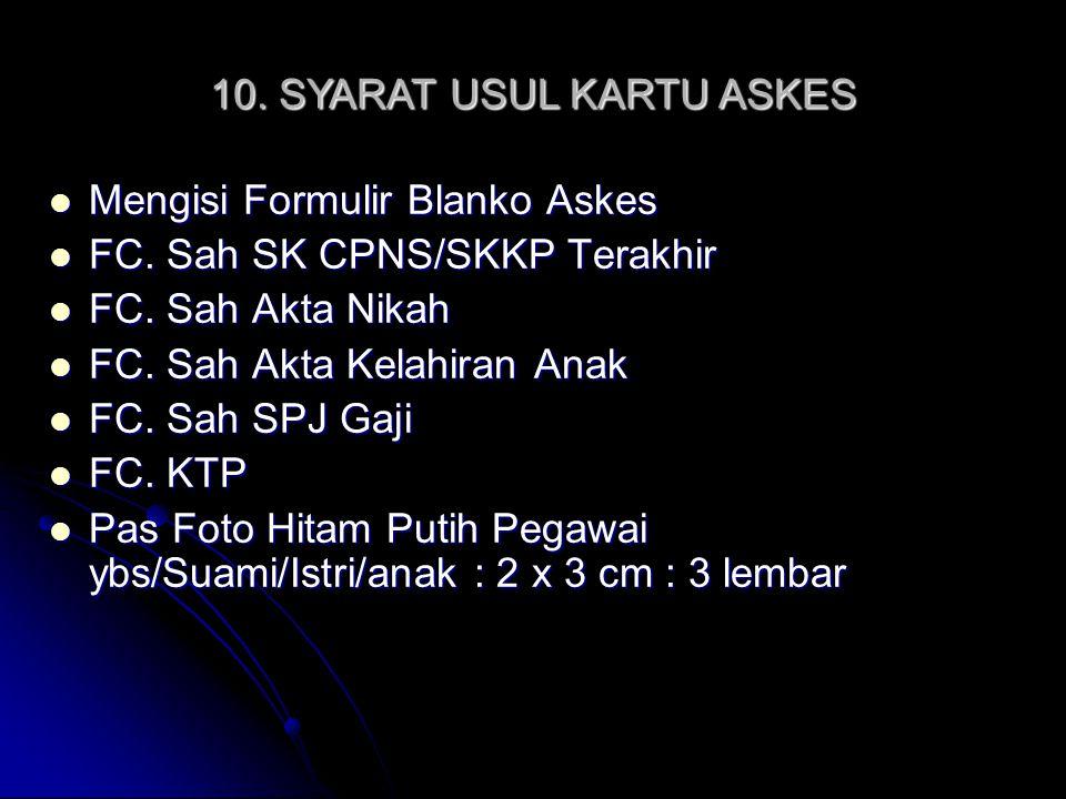 10. SYARAT USUL KARTU ASKES