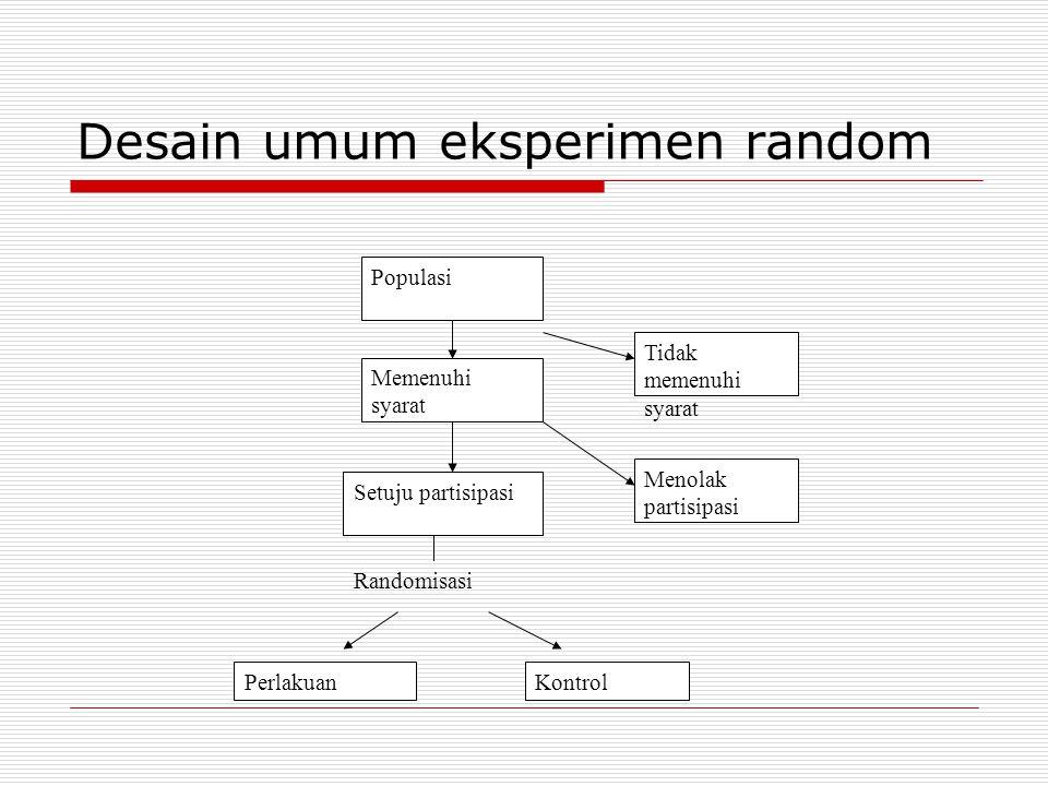 Desain umum eksperimen random