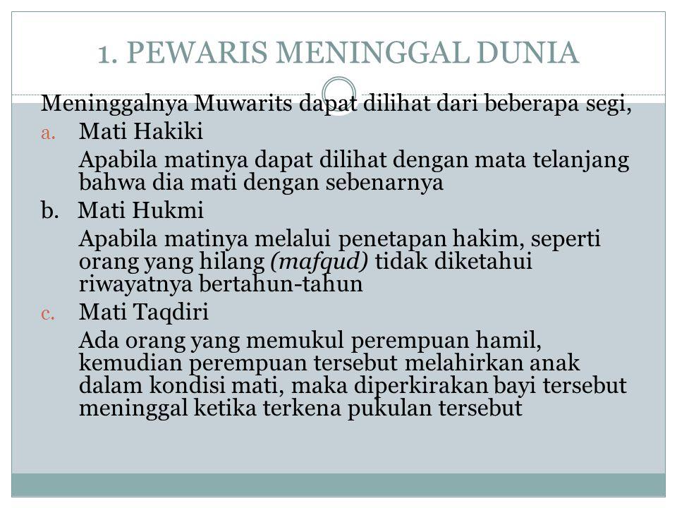 1. PEWARIS MENINGGAL DUNIA