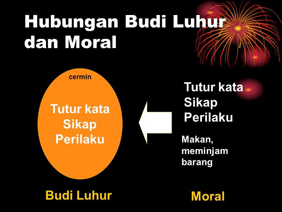 Hubungan Budi Luhur dan Moral