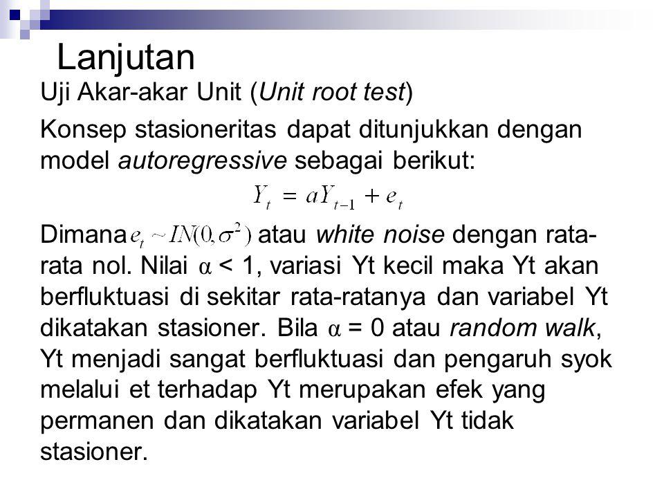 Lanjutan Uji Akar-akar Unit (Unit root test)