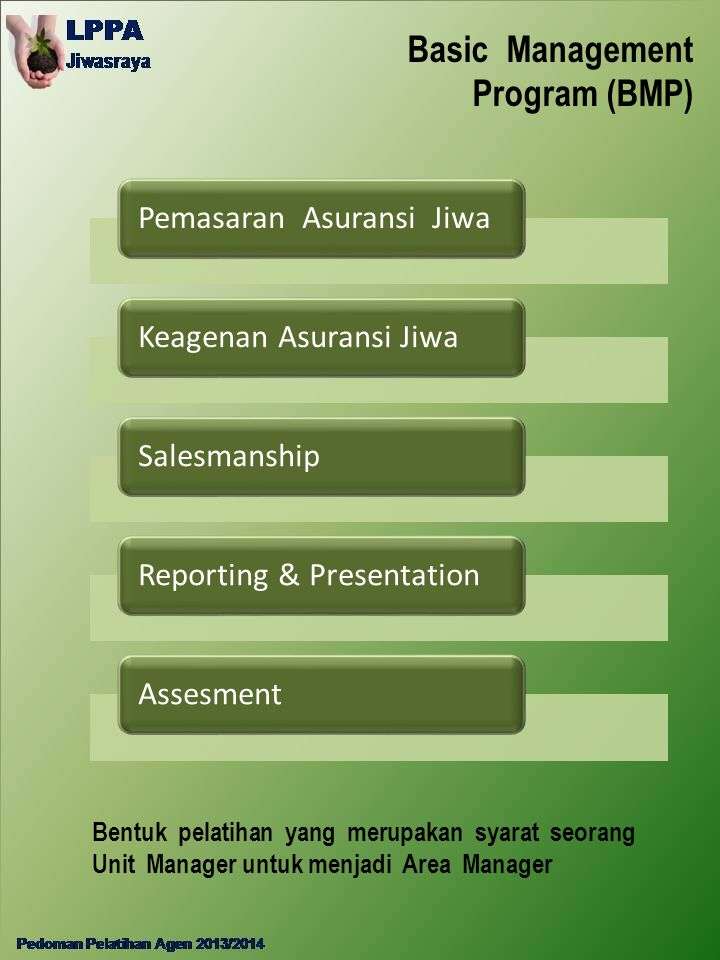 Basic Management Program (BMP)
