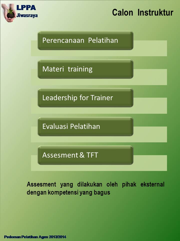 Calon Instruktur Perencanaan Pelatihan Materi training