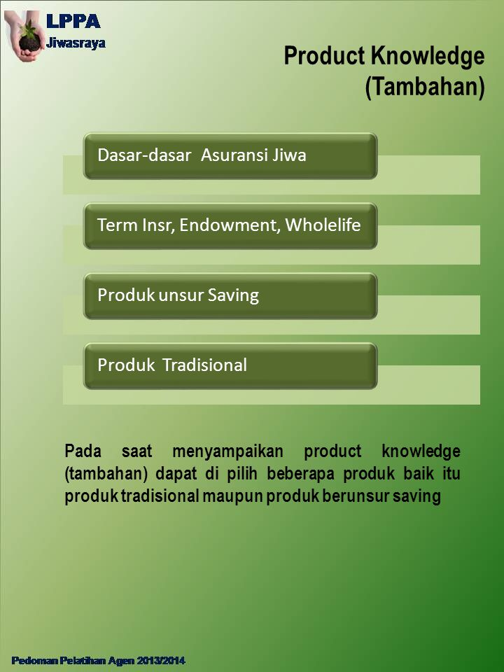 Product Knowledge (Tambahan)