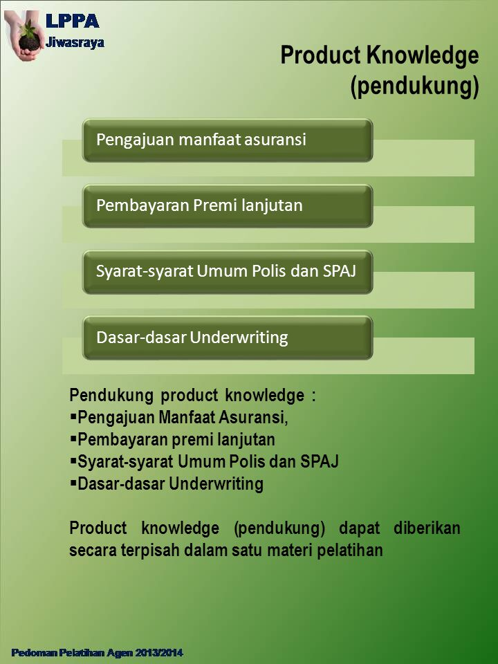Product Knowledge (pendukung)