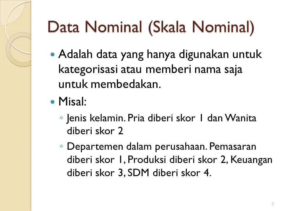 Data Nominal (Skala Nominal)