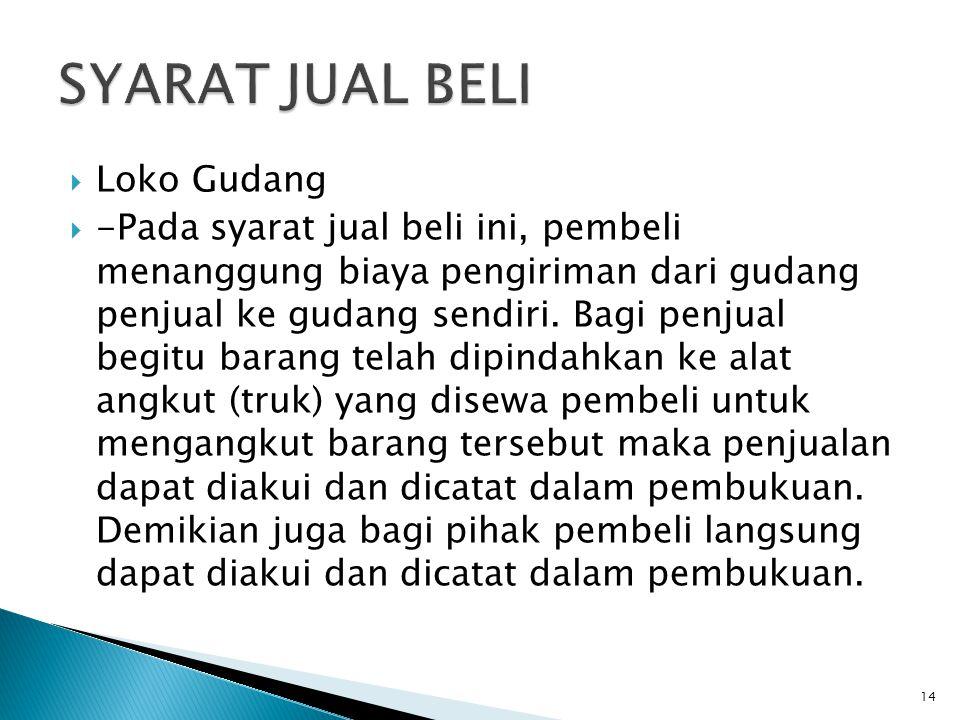 SYARAT JUAL BELI Loko Gudang