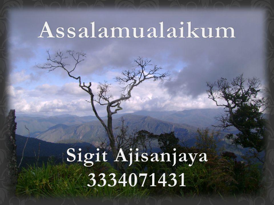 Assalamualaikum Sigit Ajisanjaya 3334071431