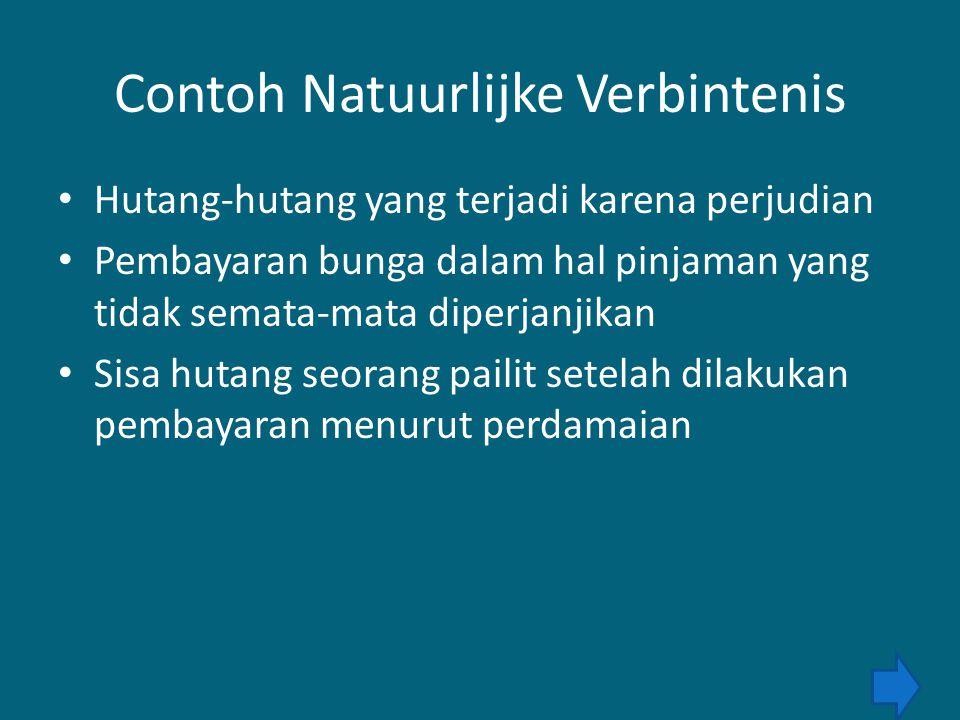 Contoh Natuurlijke Verbintenis