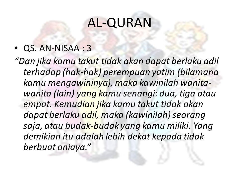 AL-QURAN QS. AN-NISAA : 3.