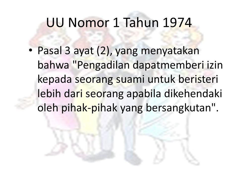 UU Nomor 1 Tahun 1974