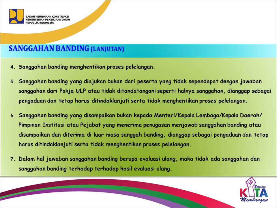 SANGGAHAN BANDING (LANJUTAN)