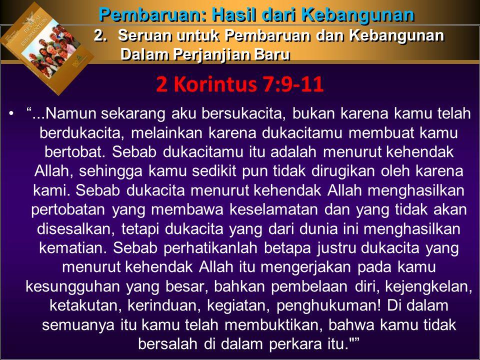 2 Korintus 7:9-11 Pembaruan: Hasil dari Kebangunan