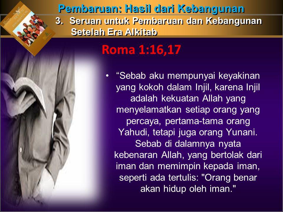 Roma 1:16,17 Pembaruan: Hasil dari Kebangunan