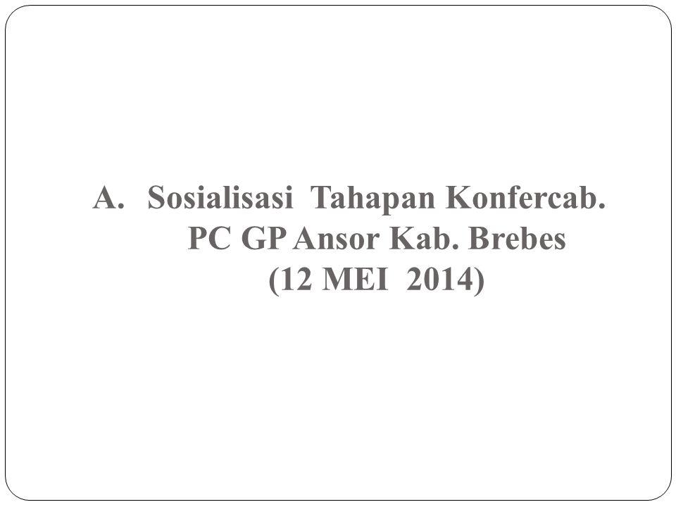 Sosialisasi Tahapan Konfercab. PC GP Ansor Kab. Brebes (12 MEI 2014)