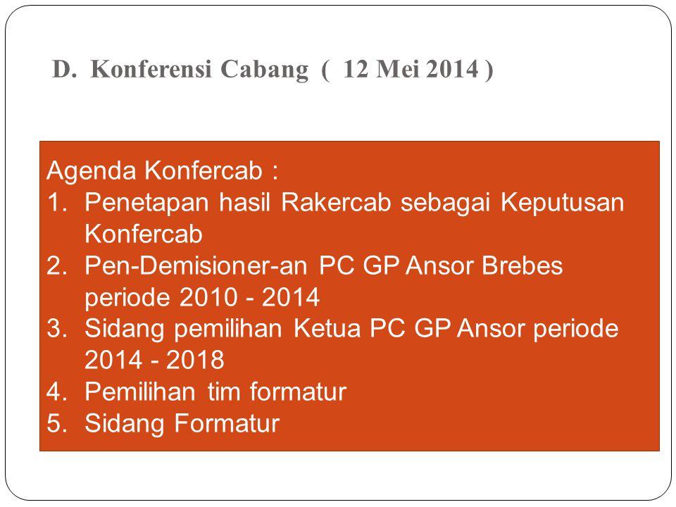 Konferensi Cabang ( 12 Mei 2014 )