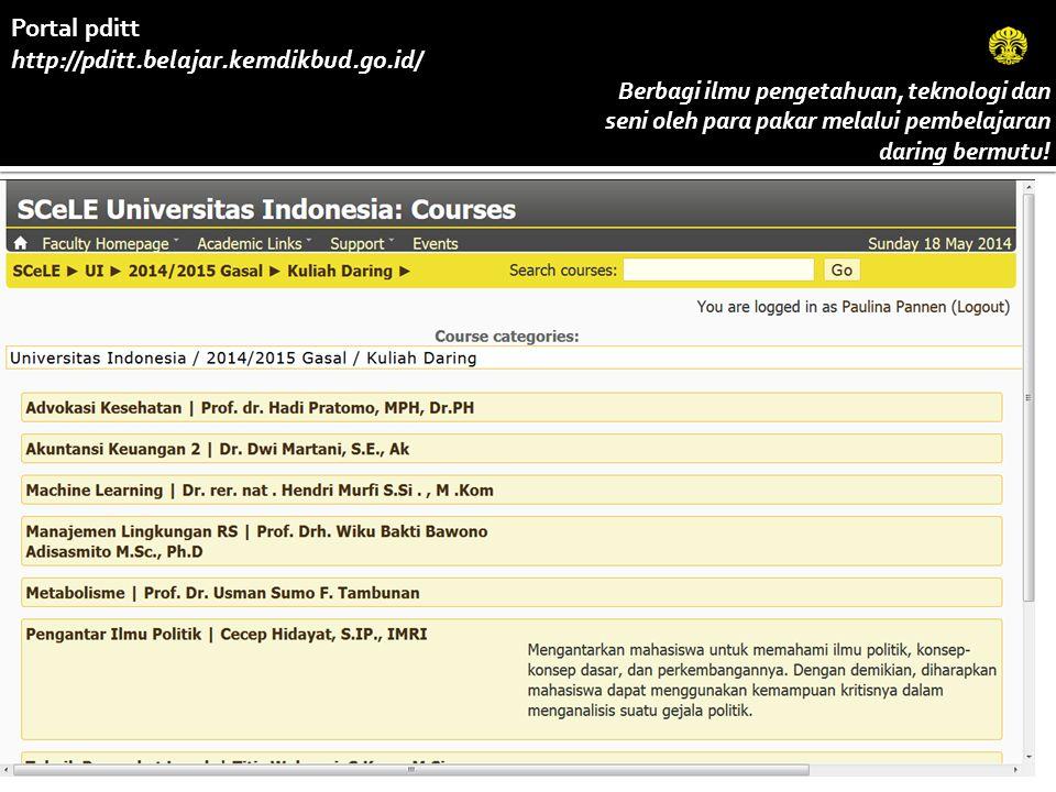 Portal pditt http://pditt.belajar.kemdikbud.go.id/