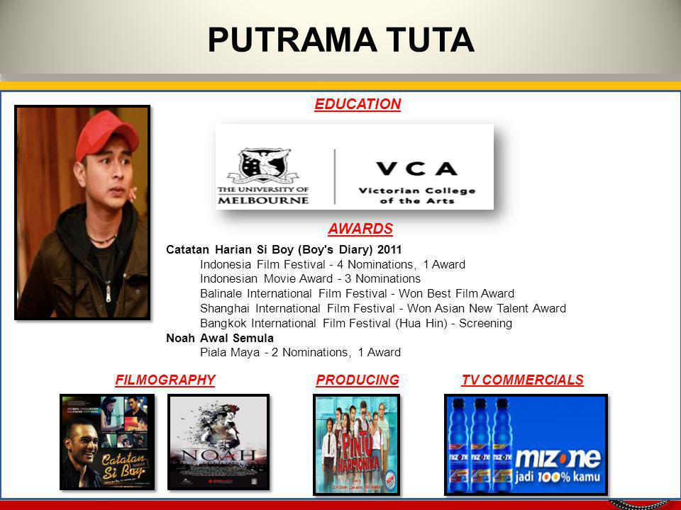 PUTRAMA TUTA EDUCATION AWARDS FILMOGRAPHY PRODUCING TV COMMERCIALS