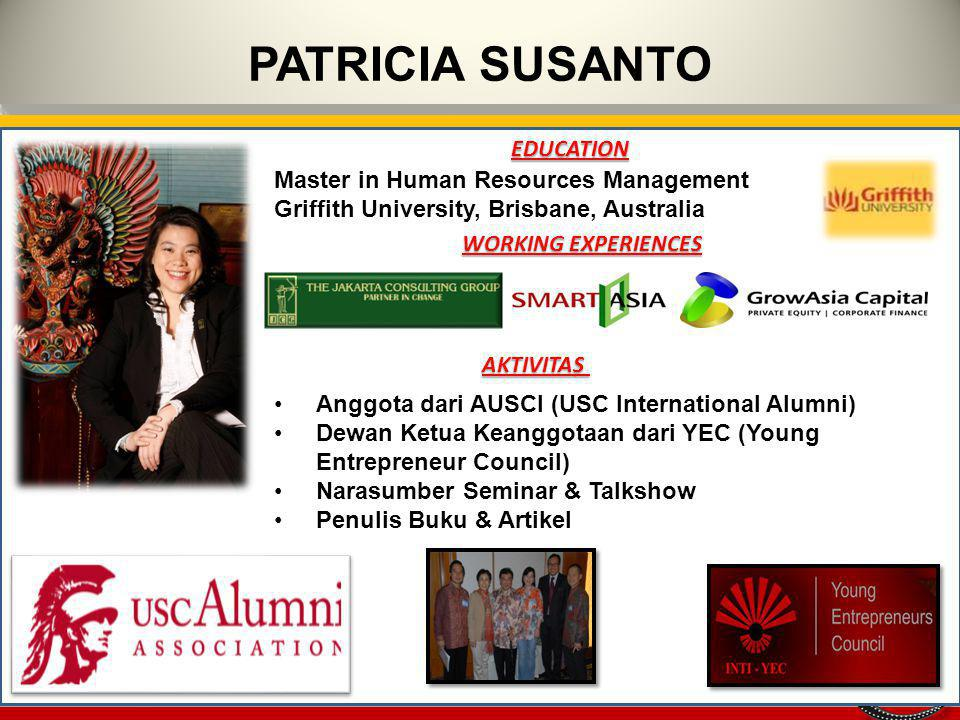 PATRICIA SUSANTO EDUCATION Master in Human Resources Management