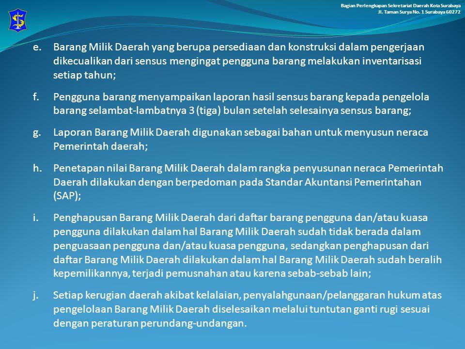 Bagian Perlengkapan Sekretariat Daerah Kota Surabaya